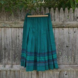 Vintage 60's Pendleton pleated high waisted skirt